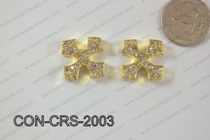 Sideway Cross 20mm Gold CON-CRS-2003