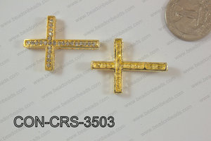 Sideway Cross 25x35mm Gold CON-CRS-3503