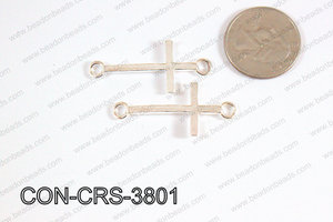 Sideway cross connector cross Silver 17x38mm CON-CRS-3801