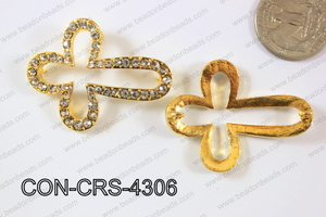 Sideway Cross 34x43mm Gold CON-CRS-4306