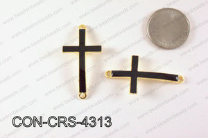 Metal Gold Cross Connector Black 43X23mm CON-CRS-4313