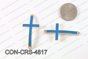 Metal Gold Cross Connector Turquoise 46X23mm CON-CRS-4617