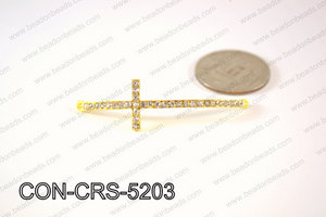 Sideway cross connector, Gold 15x52mm CON-CRS-5203