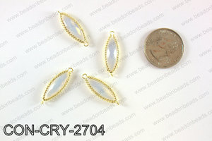 gold bezel crystal Mariquesa connector  CON-CRY-2704