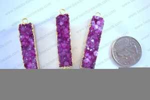 Druzy Connector 11x50MM  CON-DRU-5001