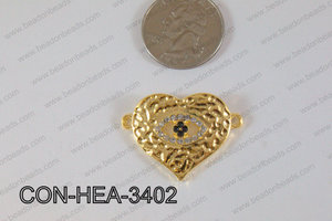 Heart Connector Gold 25x34mm CON-HEA-3402