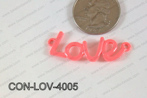 Love Connector Coral 13x40mm CON-LOV-4005