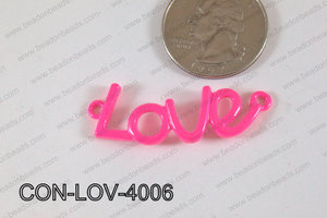 Love Connector Hot Pink 13x40mm CON-LOV-4006