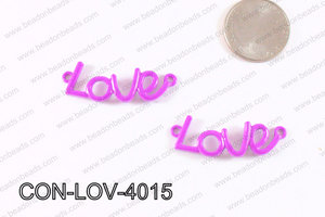 Love Connector Purple 12x40mm CON-LOV-4015