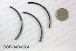 Gunmetal curved bar 2x68mm COP-BAR-0204
