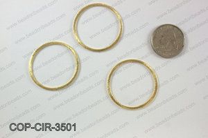 Gold plated flat circle, 35mm COP-CIR-3501
