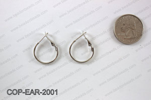 Earring hoops 20mm, Silver COP-EAR-2001
