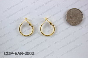 Earring hoops 20mm, Gold COP-EAR-2002
