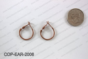 Earring hoops 20mm, Copper COP-EAR-2006