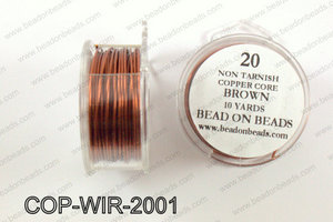 Non Tarnish silver plated wrapping wire 20 gauge, GoldCOP-WIR-20