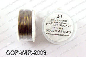 Non Tarnish copper core wrapping wire 20 gauge, Vintage bronzeCO