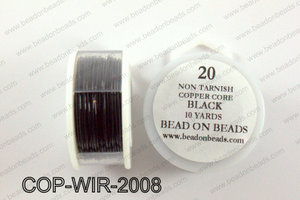 Non Tarnish copper core wrapping wire 20 gauge, BlackCOP-WIR-200