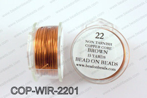 Non Tarnish copper core wrapping wire 22 gauge, BrownCOP-WIR-220