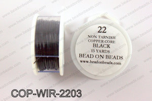 Non Tarnish copper core wrapping wire 22 gauge, BlackCOP-WIR-220