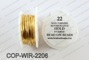 Non Tarnish silver plated wrapping wire 22 gauge, GoldCOP-WIR-22