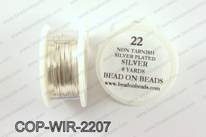 Non Tarnish silver plated wrapping wire 22 gauge, SilverCOP-WIR-
