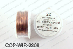 Non Tarnish copper core wrapping wire 22 gauge, Antique copperCO