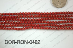 Coral Rondel 4mm COR-RON-0402