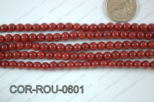 Coral Round 6mm COR-ROU-0601