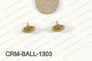 Pewter Charm Football 12x13mm Bronze CRM-BALL-1303