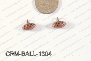 Pewter Charm Football 12x13mm Copper CRM-BALL-1304