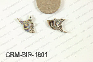 Pewter Charm Bird 16x18mm Silver CRM-BIR-1801