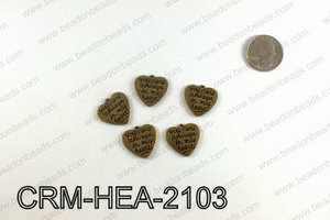 Heart charm 21x22mm, Bronze CRM-HEA-2103