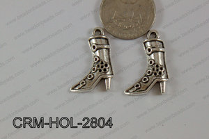 Pewter Charm Texas Boots 19x28mm Silver CRM-HOL-2804