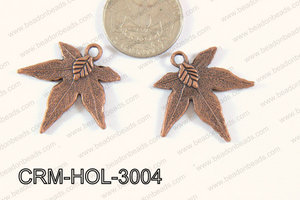 Pewter Charm Leaf 30mm CopperCRM-HOL-3004