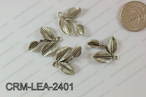 Charm Leaf 250g Bag 15x24mm CRM-LEA-2401