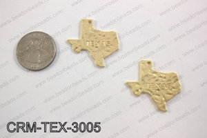 Texas charms 30x31mm matte gold CRM-TEX-3005
