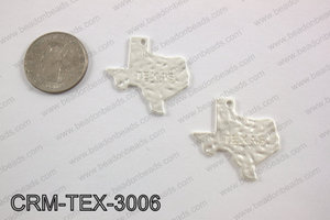 Texas charms 30x31mm matte silver CRM-TEX-3006