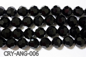 Angelic Crystal Black Faceted Round 18mm CRY-ANG-006