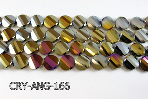 Angelic Crystal Faceted Twisted Coin 18mm CRY-ANG-166