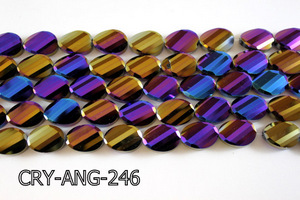 Angelic Crystal Faceted Twisted Oval 13x18mm CRY-ANG-246