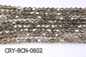 Angelic Crystal Faceted BiCone 6mm 12'' CRY-BCN-0602
