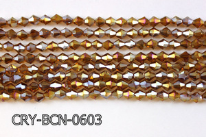 Angelic Crystal Faceted BiCone 6mm 12'' CRY-BCN-0603