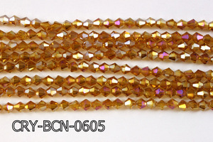 Angelic Crystal Faceted BiCone 6mm 12'' CRY-BCN-0605