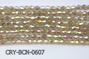 Angelic Crystal Faceted BiCone 6mm 12'' CRY-BCN-0607
