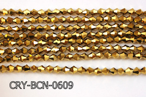 Angelic Crystal Faceted BiCone 6mm 12'' CRY-BCN-0609