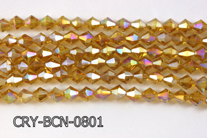 Angelic Crystal Faceted BiCone 8mm 12'' CRY-BCN-0801