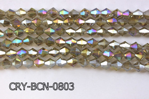 Angelic Crystal Faceted BiCone 8mm 12'' CRY-BCN-0803