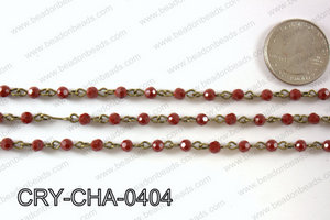 Angelic Crystal Round Chain 4mm  CRY-CHA-0404