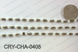 Angelic Crystal Round Chain 4mm  CRY-CHA-0405