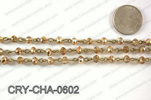 Angelic Crystal Rondelle Chain 6mm  CRY-CHA-0602